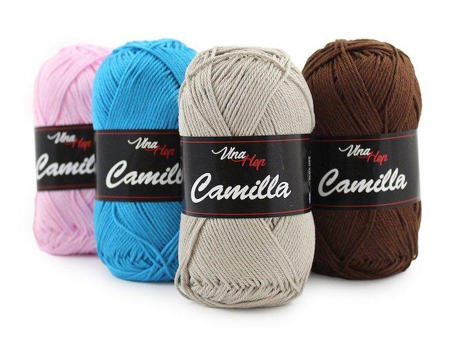 Bavlnená priadza - mercerizovaná bavlna Camilla (4 klbká).